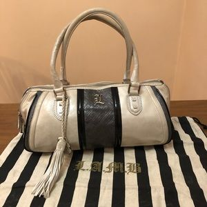 LAMB Frosted Leather Aviano Satchel w/Dust Bag